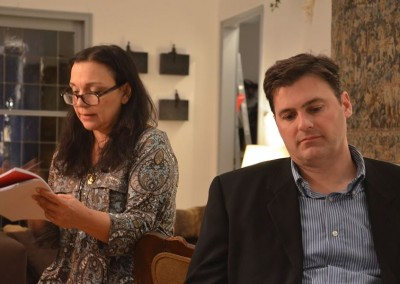 Louisa Graf and Timothy Lone in Love Letters (rehearsal photo)