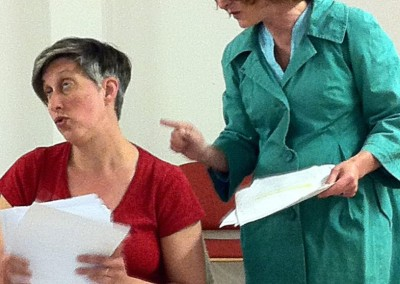 Rhona Richards as Mercy in rehearsal for 'Greyhounds'.