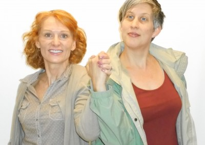 Rhona Richards and Christine Probst in Greyhounds (rehearsal photo)