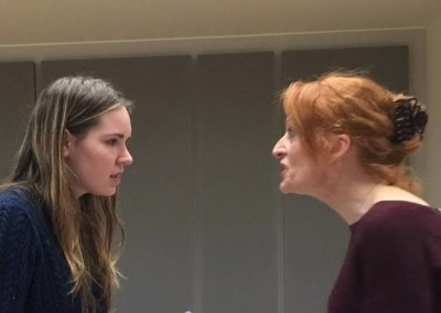 Sarah Lamesch and Rhona Richards rehearsing 'Do You Want to Know a Secret?'
